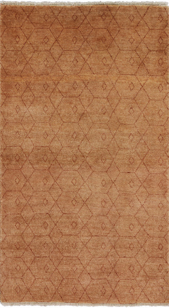 3 X 5 Handmade Gabbeh Area Rug - Golden Nile
