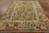 Reversible Kilim Flat Weave 8 X 9 Area Rug -  Golden Nile