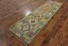 Flat Weave Runner 3 X 10 Kilim Area Rug - Golden Nile