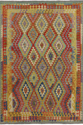 Flat Weave 7 X 10 Tribal Kilim Area Rug