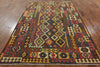 7 X 10 Tribal Kilim Flat Weave Area Rug - Golden Nile