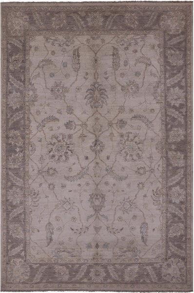 "White Wash Persian Hand Knotted Rug - 6' X 8' 10"" - Golden Nile"