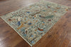 6 X 9 Hand Knotted Fine Serapi Area Rug -  Golden Nile