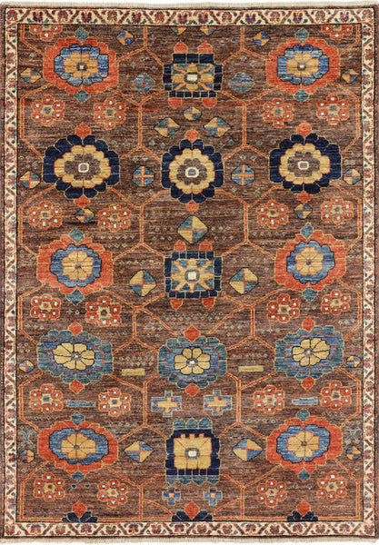4 X 6 Super Fine Serapi Oriental Area Rug -  Golden Nile