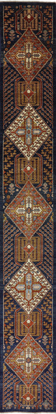 Hand Knotted Fine Serapi Area Rug 3 X 21 -  Golden Nile