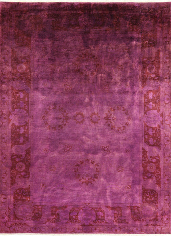 Persian Overdyed Pink Area Rug 10 X 14
