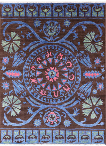 "Hand Knotted Kaitag Area Rug - 10' 4"" X 13"" 9"" - Golden Nile"