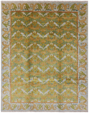 9 X 12 Art Deco Morris Design Area Rug