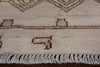 Signed Moroccan Area Rug 5 X 8