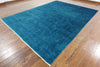 9 X 12 Persian Blue Handmade Area Overdyed Rug - Golden Nile