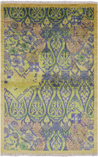 Modern Arts And Crafts Area Rug 4 X 6 -  Golden Nile