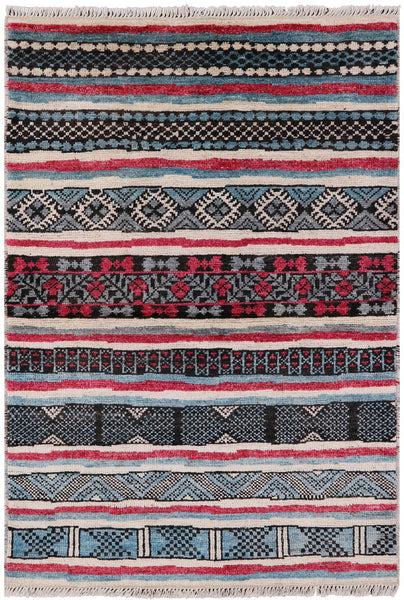 Hand Knotted Navajo Design 4 X 6 Moroccan Area Rug - Golden Nile