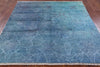 6' Square Vibrance Oriental Overdyed Area Rug - Golden Nile