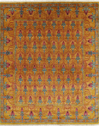 Hand Knotted Arts & Crafts Oriental Area Rug 8 X 10