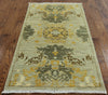 Oriental Art Deco Area Rug 3 X 6 - Golden Nile