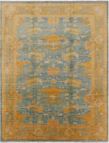 9 X 12 Arts & Crafts Hand-Knotted Area Rug