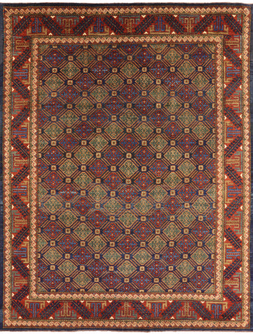 Ersari Collection Oriental 8 X 11 Area Rug