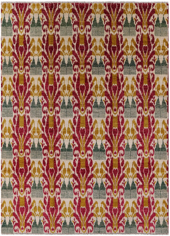 Contemporary Ikat 9 X 12 Area Rug