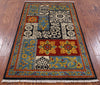 "William Morris Handmade Wool Area Rug - 3' 3"" X 5' 5"" - Golden Nile"