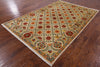 "William Morris Hand Knotted Wool Area Rug - 6' 1"" X 9' 1"" - Golden Nile"