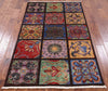 "Arts & Crafts Stained Glass Handmade Wool Area Rug - 3' 10"" X 6' 3"" - Golden Nile"