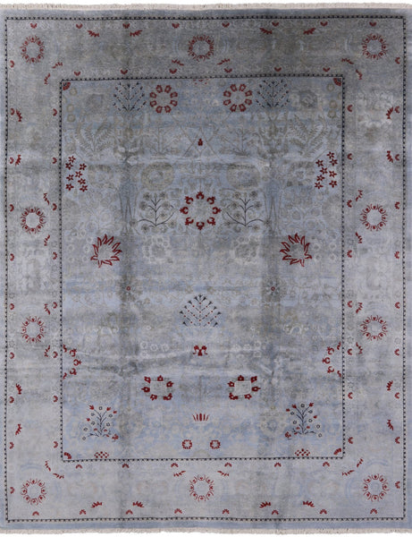 "Oriental Hand Knotted Overdyed Full Pile Wool Area Rug - 8' 1"" X 9' 10"" - Golden Nile"