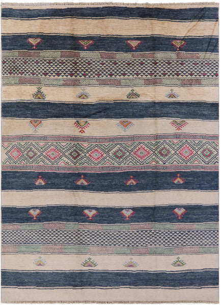 Modern Navajo Design 9 X 12 Area Rug - Golden Nile