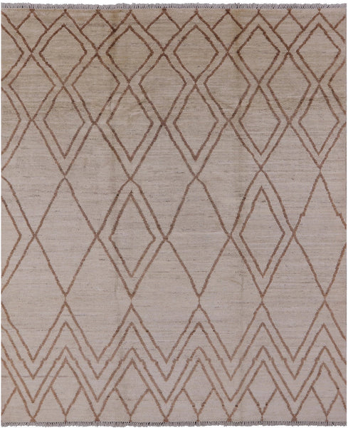 "Moroccan Hand Knotted Area Rug - 8' 2"" X 9' 10"" - Golden Nile"