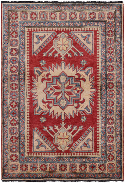 "Wool On Wool Kazak Rug - 3' 10"" X 5' 7"" - Golden Nile"