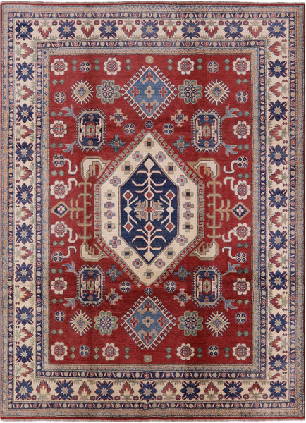 "Kazak Hand Knotted Area Rug - 8' 10"" X 12' 3"" - Golden Nile"