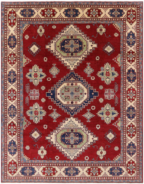 "Kazak Hand Knotted Rug - 9' 10"" X 12' 9"" - Golden Nile"