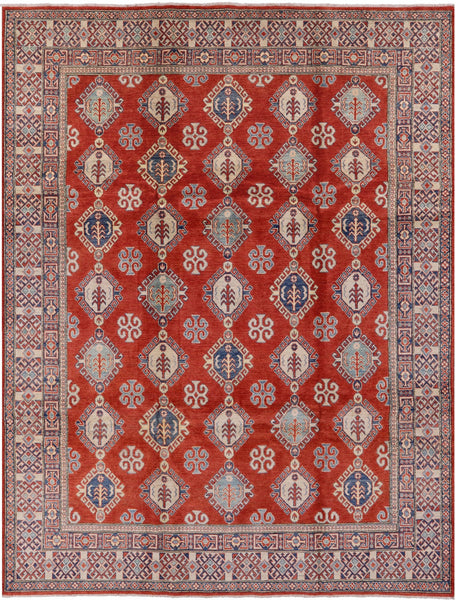 "Kazak Handmade Area Rug - 8' 7"" X 11' 3"" - Golden Nile"