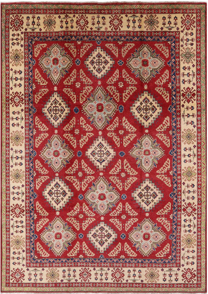 "Kazak Hand Knotted Rug - 9' 1"" X 12' 10"" - Golden Nile"