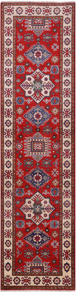 "Kazak Hand-Knotted Runner Rug - 2' 7"" X 9' 7"" - Golden Nile"