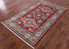 "Kazak Hand Knotted Area Rug - 4' 1"" X 6' 3"" - Golden Nile"