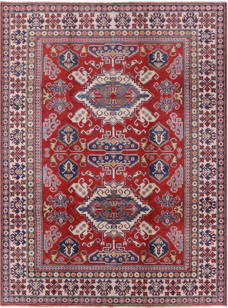 "Kazak Hand Knotted Rug - 8' 4"" X 11' 1"" - Golden Nile"