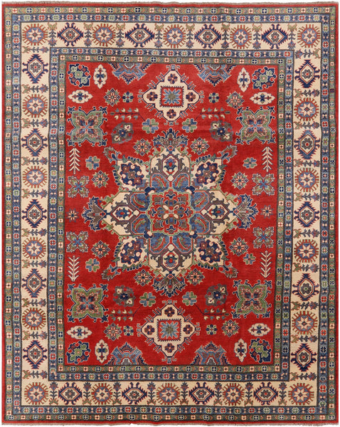 "Kazak Hand Knotted Area Rug - 8' X 10' 1"" - Golden Nile"