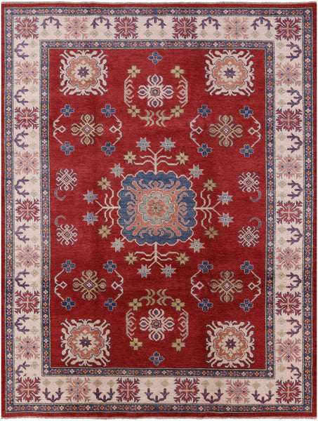 "Kazak Hand Knotted Rug - 8' 8"" X 11' 2"" - Golden Nile"