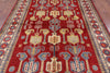 "Kazak Hand Knotted Area Rug - 6' 5"" X 9' 5"" - Golden Nile"