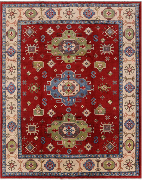 "Kazak Hand Knotted Area Rug - 8' 2"" X 10' - Golden Nile"
