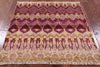 "Square Ikat Hand Knotted Wool Area Rug - 4' 2"" X 4' 2"" - Golden Nile"