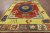 9 X 12 Hand Knotted Arts And Crafts Area Rug - Golden Nile