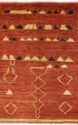 7 X 10 Oriental Gabbeh Signed Area Rug