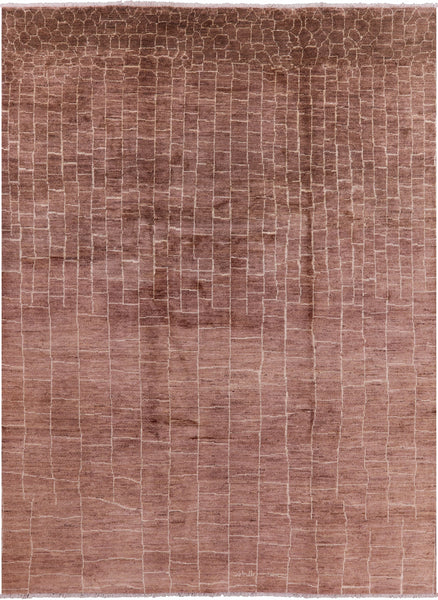 "Moroccan Hand Knotted Rug - 8' 10"" X 11' 8"" - Golden Nile"