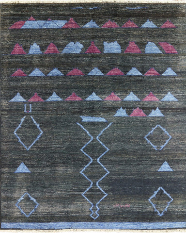 Signed Oriental Moroccan 8 X 10 Hand Knotted Rug