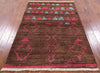 "Signed Moroccan Handmade Area Rug - 4' 3"" X 6' 4"" - Golden Nile"