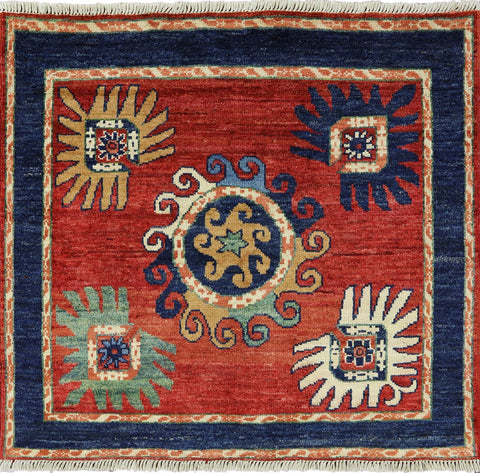 Arts And Crafts 5 X 5 Square Hand Made Area Rug