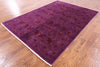 "Full Pile Wool Overdyed Handmade Rug - 6' 1"" X 8' 10"" - Golden Nile"