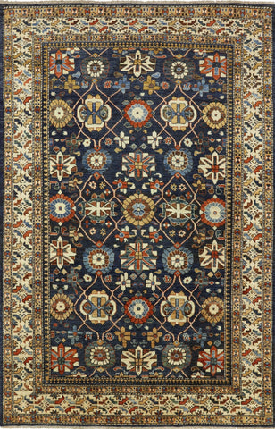 Hand Knotted Oriental Fine Serapi Rug 6 X 9