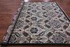 "Square William Morris Handmade Wool Area Rug - 8' X 8' 4"" - Golden Nile"